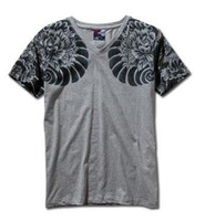Wholesale Tattoo V - Mens Graphic Tee Short Sleeve T-Shirts Japan Ukiyoe Tattoo Art Design Slim Fitted Dragon Pattern Print T Shirt