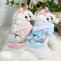 Wholesale Three Years Girls Clothes - Three dimensional lion's belt dog clothes for small dogs girl Autumn and winter dog clothes cheap