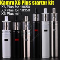 Wholesale kamry x6 - 100% Authentic Kamry X6 Plus & mini Mechanical Mod Starter Kit Steel body fit 18650 18350 Battery e cigarette vape Mods Sub RDA Vapor DHL