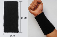 Wholesale Basketball Elbow Bands - Sports Cotton Basketball Long Wristband Elbow Guard Pad Sweat Band Sports Wrist Support