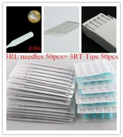 Wholesale Disposable Tattoo Tubes 3rl - Wholesale-100pcs pack 3RL Tattoo Needles and 3RT Tubes Mixed Sterile Tattoo Needles And Disposable Tattoo Tips Each Size 50pcs