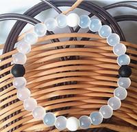 Wholesale Power Bracelets Crystal - Shark Neno Bead Silicone Bracelets Balance Power Belief Colorful Balance Power Bracelets Neno Design Crystal Charms Anti Fatigue Bangle