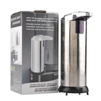 Wholesale Touch Free Wall Dispenser - Automatic Sensor Soap Dispenser Base Wall Mounted Stainless Steel Touch-free Sanitizer Dispenser For Kitchen Bathroom Wash Machine 0601069