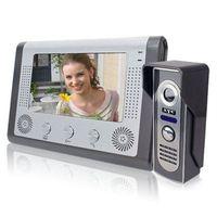 Wholesale Color Video Door - 7 inch LCD Color Camer Video Doorphone Doorbell Door Bell Intercom Kit Night Vision Camera Monitor free shipping