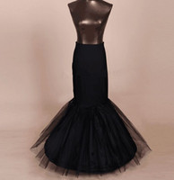Wholesale Trumpet Bridal Slips - Fashion Bridal Petticoats Underskirt for black Wedding Slip Elastic Wedding Ruffles petticoat Bridal Fishtail Mermaid Petticoat 2015