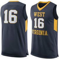 No.16 West Virginia Mountaineers College Basketball Jersey broderie revers Maillots pas cher hommes taille S-3XL expédition rapide