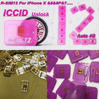 Wholesale Originlal R SIM12 for iphone X unlocking card R SIM RSIM12 RSIM automatic ICCID unlock for iPhone p p P iOS11 ios7 x G G