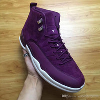 Wholesale Basket Ball Shoes Cheap - 2017 New Air Retro 12 XII Men Basketball Shoes Cheap suede Bordeaux Retros 12s Boost Mens Sneakers Trainers Basket ball Sports Shoes 7-13