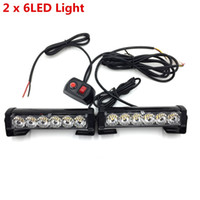 Wholesale Led Emergency Light Bar Truck - High quality Car Truck Front Grille LED Strobe Flash Warning Light Auto Police LED Bar Emergency Light 12V Caution Lamp free shipping