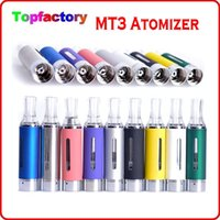 Wholesale Ego Colors Kit - Evod MT3 Atomizer clearomizer for ego electronic cigarette Evod atomizer MT3 TANK for e cigarette kits Various Colors DHL Fast Free