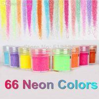 çiviler için payetler toptan satış-OTS062 (24), 66 Neon Renkler Metal Parlak Glitter Pullu Toz Nail Deco Sanat Kiti Akrilik Toz Seti (2.9 * 2.5 cm)