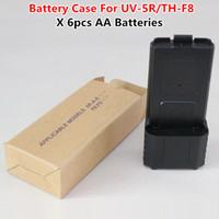 Wholesale Tyt Radio Case - 2015 New Black 3800mAh AA Battery Case For BaoFeng UV-5R TYT TH-F8 Two Way Radio Free Shipping