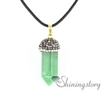 Wholesale Handmade Birthstone Necklaces - hexagonal prisms natural stone jewelry birthstones necklace mothers birthstone jewelry handmade stone jewelry agate semi precious stone