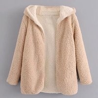 Wholesale thick corduroy jacket - 2017 autumn and winter European and American new thick and lazy terry Hooded jacket lady overcoat