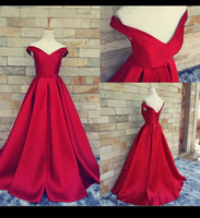 Wholesale White Prom Dress Red Belt - Red Carpet Long Formal Pageant Prom Gowns With Belt Sexy V Neck Ball Gowns Open Back Vintage Celebrity Dress Party Evening Real Photos