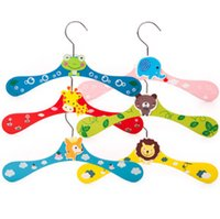 Wholesale Animal Baby Hangers - Multicolour Animal Wooden Cute Baby Kids Children Coat Clothes Hangers Brand New Good Quality Free Shipping