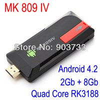 MK809 IV Quad Core TV Box Media Player Стик Google Android 4.2.2 RK3188 2GB RAN 8GB WIFI HDMI 1080P Smart TV Dongle MK809IV