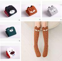 Wholesale High Quality Girls Socks - Fox Socks Baby Girl Knee High Socks Top Quality Korea Socks Cartoon Animal Socks Autumn Winter Socks Bear Socks Baby Leg Warmers m771