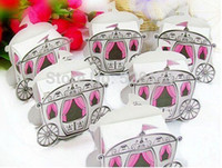 """Wholesale Wholesale Cinderella Carriages - Free Shipping 100pcs """"Enchanted Carriage"""" Fairytale Themed Favor Box Wedding Boxes Cinderella Pumpkin Carriage Candy Boxes"""
