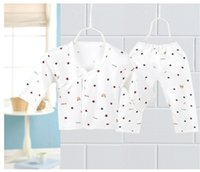 Wholesale Cotton Button Shirt For Baby - BY16 5sets lot Lovely Cute Baby Clothing Button New Born Fall Clothing Baby Underwear Cotton Comfortable for Baby Girl Boys Infants