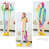 7eb1aedc85 Wholesale hooded one piece pajamas adults for sale - 2 Styles Cartoon  Flannel Star Unicorn Warm