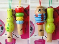 Wholesale Kids Animal Whistle - CARTON MUSIC INSTRUMENT WOODEN ANIMAL WHISTLE TOY FOR KIDS BABY New and Hot Selling Free shipping 1000pcs