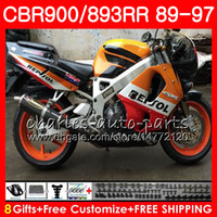 Wholesale fairing cbr893 92 for sale - Group buy CBR RR For HONDA CBR900RR Repsol red CBR893RR NO26 CBR893 RR Fairing
