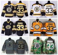 Wholesale Uniform Bear - 2015 Cheap Ice Hockey Boston Bruins Zdeno Chara Jersey #33 Third Bear Alternate Black Uniform Chara Bruins Jersey