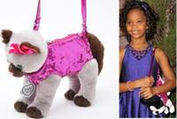 Wholesale Cute Purses For Kids - H1168 VIDEO Baby Animals Kids Children Cartoon Cross Body Messenger Bag Puppy Shape cute Dog cat Purses for kids girl boy 0.3