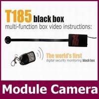 Wholesale Hd Dvr Button Camera - Motion detection Wireless remote control HD 720P H.264 Camera Module Board camera Button mini Camera DIY Camera Mini DVR T185 retail box