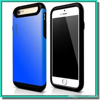 Wholesale Cases Plastic Iphone China - china hot selling high quality shockproof sam case TPU+pc case for iphone 4.7 iphone plus 5.5 with retail box