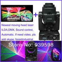 Wholesale Ilda Laser Show Software - Wholesale-free shipping moving head RGB animation laser light laser projector laser show system lazer luz ILDA and Quick show software