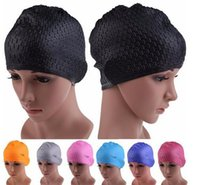 Wholesale Silicone Swim Caps Wholesale - Colorful Sporty Adult Swimming Cap Waterproof Silicon Waterdrop Cover