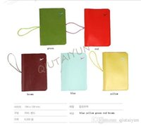 Wholesale travelus bags resale online - 4 Colors Travelus Travel Organizer Bag Leather Passport Cover Holder Wallet Travel Credit card Passport card Handbag LB37