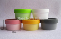 Wholesale Hair Care Cream - Free shipping - 24 x 50g Plastic Facial Cream Jars, 50 gram gel cosmetic bottles, hair, skincare products containers