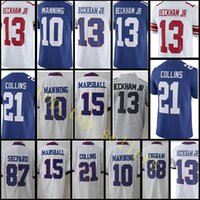 New York Gaint Jersey Uomo # 13 Odell Beckham jr 10 Eli Manning 21 Landon 15 Marshall Collins Vapor # Untouchable Limited Maglie