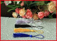 Wholesale Chinese Decoration Knot - 50pcs lot Fringe Hanging Decoration Chinese Knot Rayon Tassel Fan Decoration Product Make Fan More Mood Multicolor