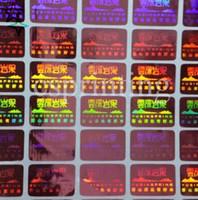 ingrosso rendere etichette personalizzate-Etichetta adesiva dell'ologramma di Hologram del laser trasparente di sicurezza su ordine economico, autoadesivo antifurto antifurto antifurto