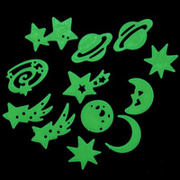 Wholesale Glow Wall Stars - V1NF Cosmos Stars Glow in the Dark Luminous Fluorescent Plastic Wall Stickers for kids rooms Free Shipping