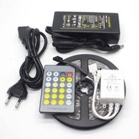 Wholesale Temperature Power Switch - 5050 SMD color temperature adjustable double color CW+WW 60LED m led strip with IR 24 key CCT controller+12V 5A switching power