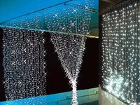 Wholesale Waterfall Decoration Lamp - Wholesale-3Mx3M 360LED Waterfall LED String Outdoor Christmas Wedding Curtain Fairy Lights Lamps New Year Decoration AC220V Luminaria