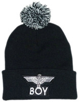 Wholesale-2015 neue Jungen-Marke schwarzer Baumwolle Beanie Mützen und Kappen für Männer sports hip pop cap Herren Winter Strickdesign Sonnenhut 2 Stil billig