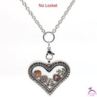 Wholesale Glass Locket Dangles - Fashion Cheap 3mm width 30'' Stainless steel rolo chain necklace for dangle charm floating glass locket exclude pendant C43