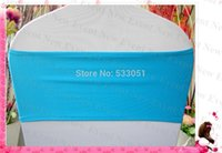 Gros-Turquoise Couleur unique Spandex Layer Bands / Lycra Band / Chair Cover Jupettes Pour Wedding Party Banquet Décoration