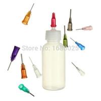 Wholesale Alcohol Plastic Bottles - 50ml Empty E-liquid Plastic Rosin Flux Alcohol Bottle for Dispenser Rosin Solder Flux Paste +330 Needles order<$18no track