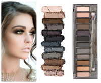 Wholesale New Arrival Nude Eyeshadow Palette - Brand New Newest Arrival Makeup Eye Shadow 12 color eyeshadow palette NUDE Smoky free shipping by dhl