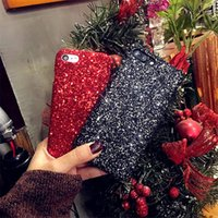 Caixa de telefone luxuosa Sparkle Bling Glitter para iphone X 8 7 6 S 6S Plus 5 5S SE Sequins em pó Diamond Christmas Cover