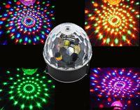 Wholesale Laser Magic Colour - Wholesale-5 Colours Voice Control Digital LED Lamp RGB Crystal Magic Ball Laser Stage Bar Lighting Effect Light Disco KTV Lighting