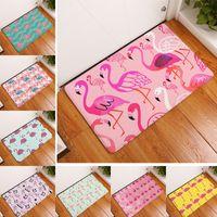 Wholesale European Floor Rugs - Home Carpets Flamingo Floor Rugs for Bedroom Bathroom Living Room Mats Kitchen Entrance Water Absorption Non-slip Mat 40*60cm 1710302