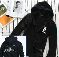 Wholesale Winged Death - Fall-DEATH NOTE L LOG RYUK COSPLAY Hoodie SWEATER Bleach fairy Wings Punk JACKET